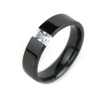 Fashional Black Light Titanium Rhinestone Ring Finger Jewelry