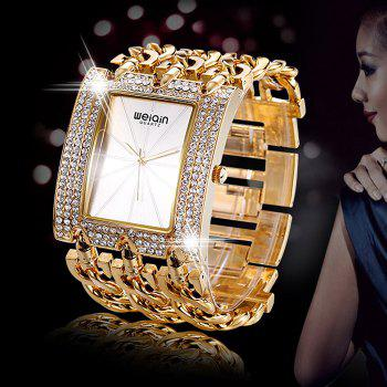 WeiQin 2780 Women Japan Quartz Chain Watch Hollow Out Alloy Band