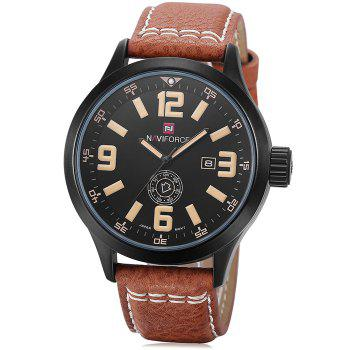 Naviforce 3682 Men Quartz Watch with Day Date Display