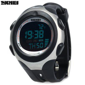 Skmei 1080 Men Sports Digital Watch 5ATM Water Resistant Temperature Display