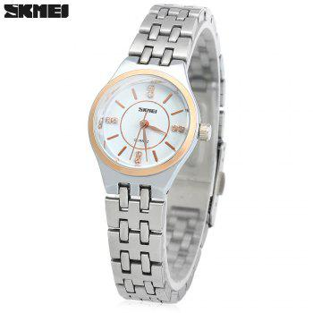 Skmei 1133 Female Quartz Watch Round Dial Steel Band 30M Water Resistant