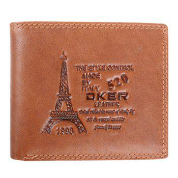 Fashion Tower Print and Letters Design Money Clip For Men