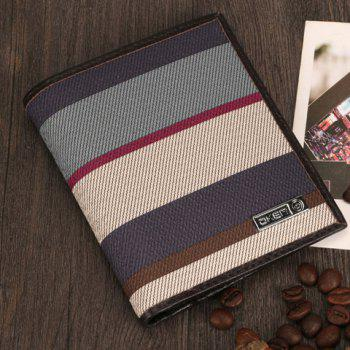 Fashion Stripes and Color Matching Design Money Clip For Men -  COFFEE