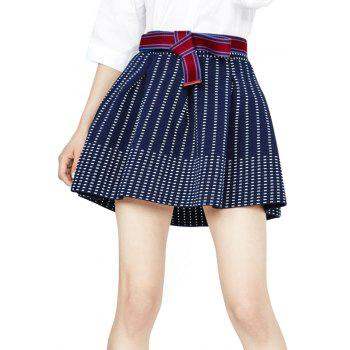 Stylish A Line Striped Women's Skirt