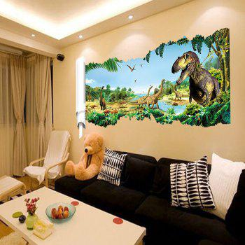 Good Quality Dinosaur Pattern Waterproof Removeable 3D Wall Sticker - COLORMIX