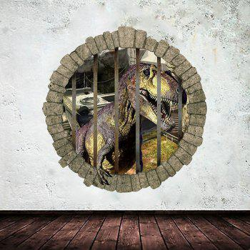 Good Quality Dinosaur Pattern Waterproof Removeable 3D Wall Sticker Home Decoration - COLORMIX