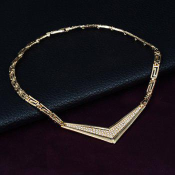 A Suit of Stylish Solid Color Geometric Necklace Bracelet Ring and Earrings For Women - GOLDEN ONE-SIZE
