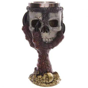 Cool 200ml Goblet Cup Skull Shape Design Stainless Steel Cup - RED RED