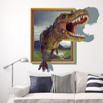 Good Quality Dinosaur Pattern Removeable 3D Decorative Wall Sticker - COLORMIX