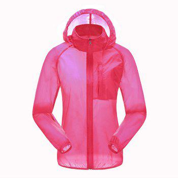 CHAOTA Outdoor Unisex Lightweight UV-resistant Skin Windbreaker - ROSE L