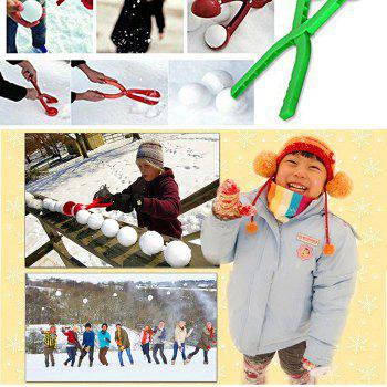 Funny Plastic Snowball Maker Scoop Tool for Winter Games Props - COLORMIX