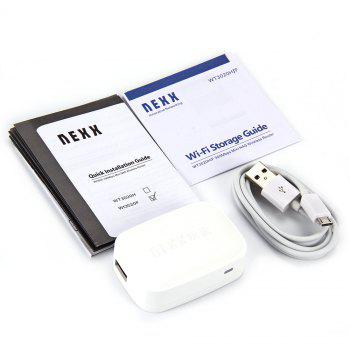 NEXX WT3020F Portable Mini Wireless NAS Router AP Reapeater 300Mbps USB Interface Two Ethernet Port - WHITE