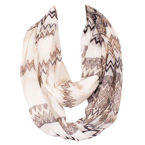 Chic Wavy Stripe Pattern Multicolor Voile Scarf For Women