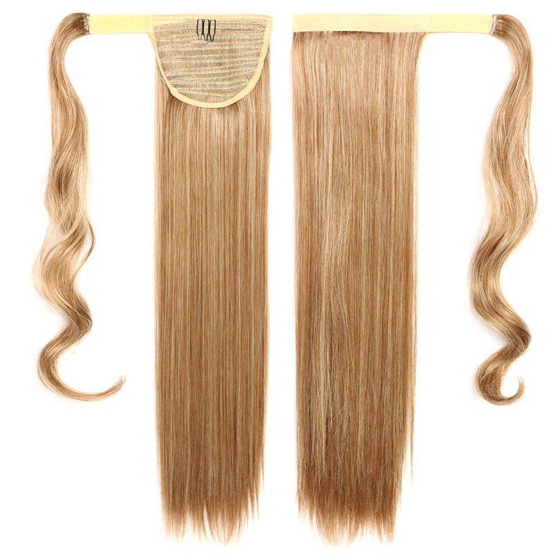 Fashion Silky Straight Synthetic Mixed Color Capless Stunning Long Women's Ponytail - BLONDE MIXED /
