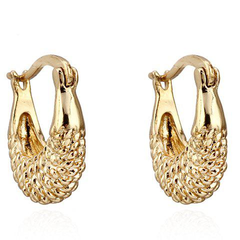 Pair of Fish Shape Hollow Out Earrings - GOLDEN