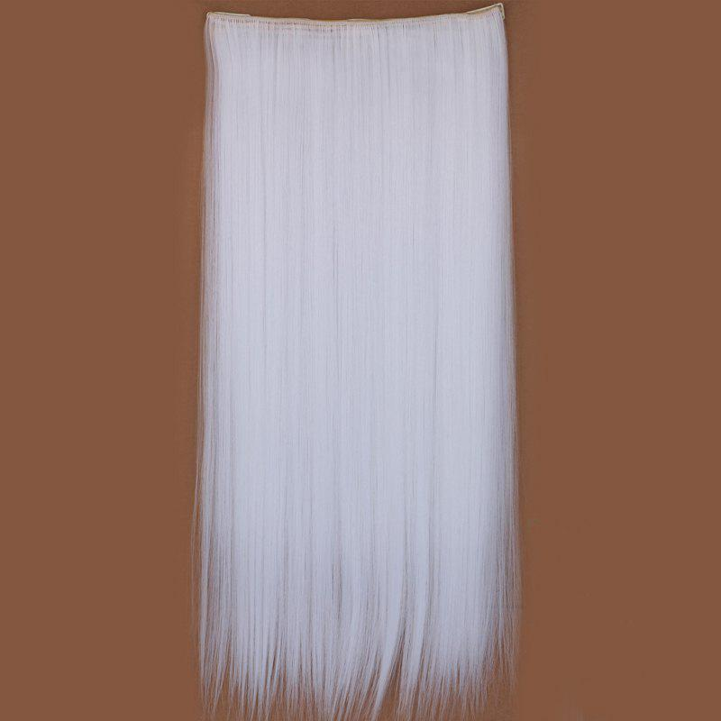 Graceful Silky Straight Clip In Synthetic Assorted Color Long Women's Hair Extension - WHITE