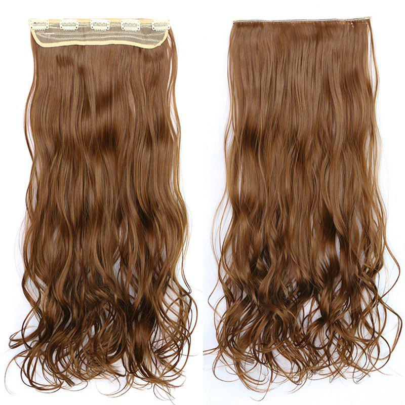 Fluffy Wavy Capless Stylish Clip In Synthetic Graceful Long Women's Hair Extension -