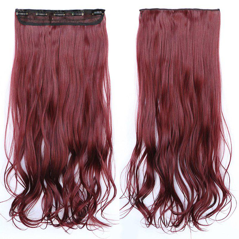 Shaggy Wave Synthetic Fashion Clip In Capless Stunning Long Women's Hair Extension - DARK AUBURN