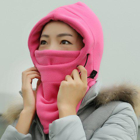 Chic Drawstring and Face Mask Embellished Outdoor Women's Thicken Winter Hat - RANDOM COLOR
