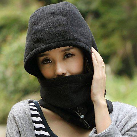 Chic Drawstring and Face Mask Embellished Women's Thicken Double-Deck Hat
