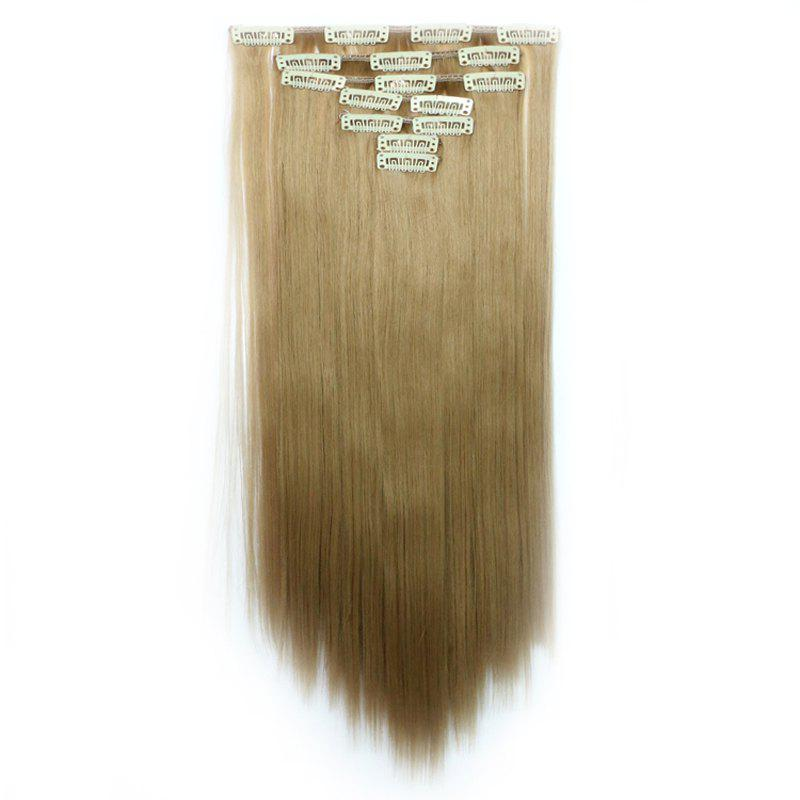 Elegant Straight Assorted Color Stylish Long Clip In Synthetic Women's Hair Extension - LIGHT GRAY 2 X