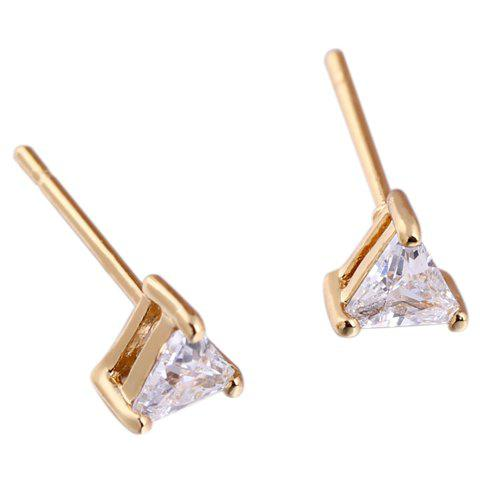 Pair of Faux Crystal Triangle Shape Earrings цепочка german silver 46sm