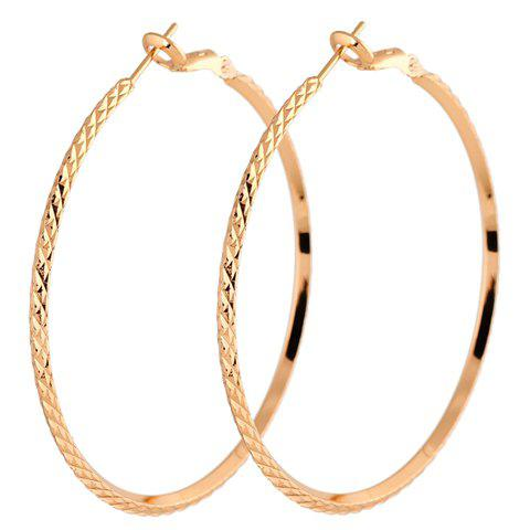 Pair of Snake Shape Earrings - GOLDEN