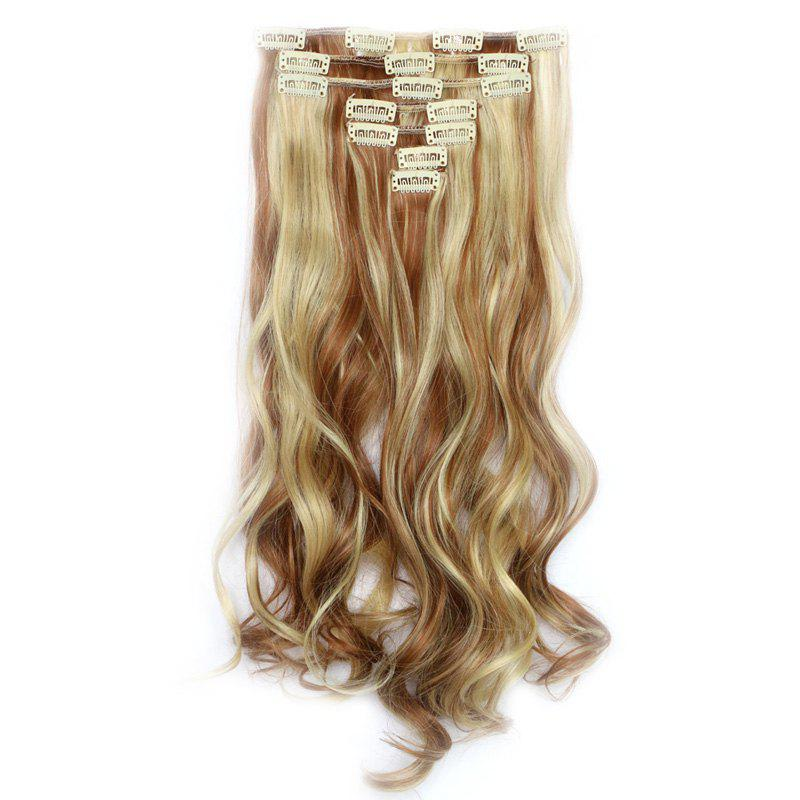 Fluffy Curly Synthetic Trendy Mixed Color Elegant Long Women's Hair Extension Suit - 2 H 3