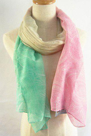 Chic Paisley Pattern Cream Color Scarf For Women - LIGHT GREEN