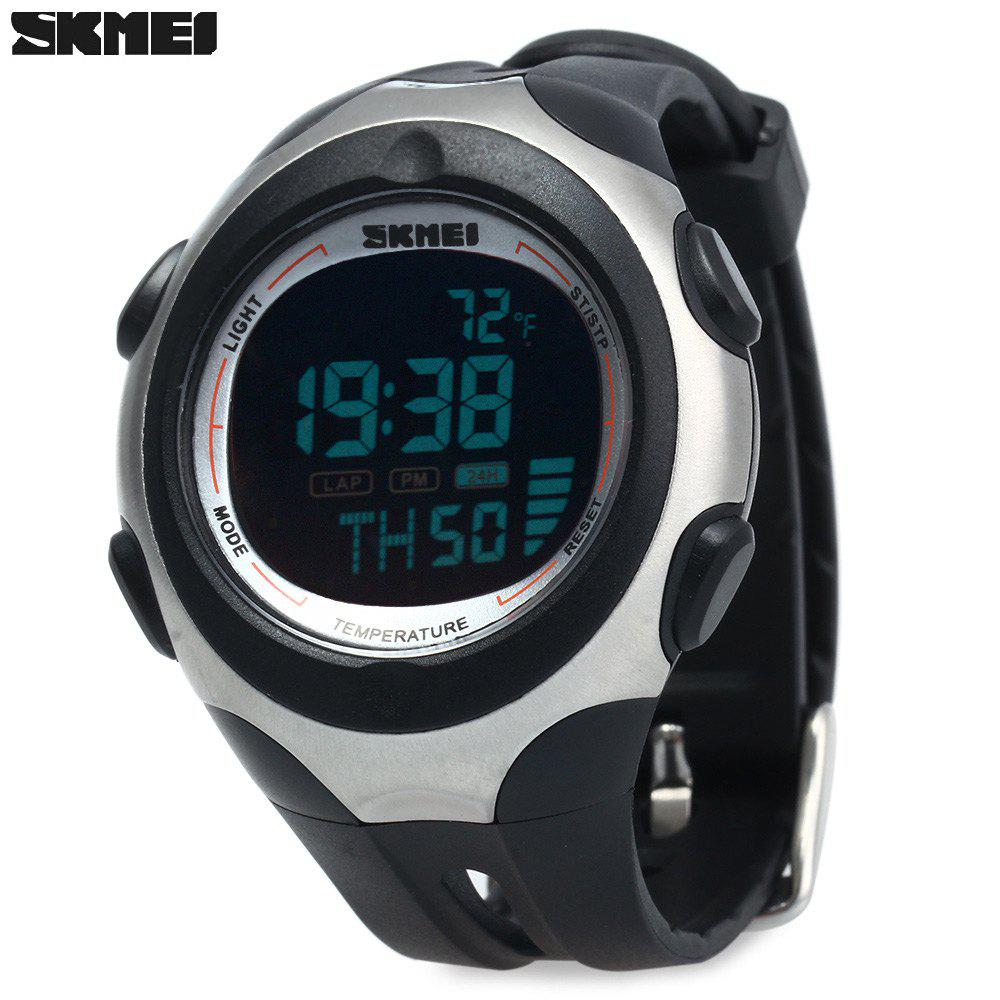 Skmei 1080 Men Sports Digital Watch 5ATM Water Resistant Temperature Display - BLACK