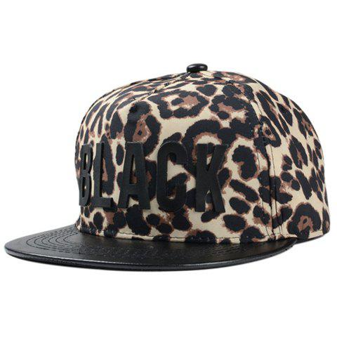 Stylish Letter Shape Embellished Leopard Pattern Men's Baseball Cap - COFFEE