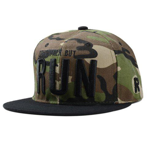 Stylish Black Capital Letters Embroidery Camouflage Pattern Men's Baseball Cap - CAMOUFLAGE