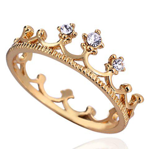 Crown Shape Rhinestone Ring - WHITE ONE-SIZE