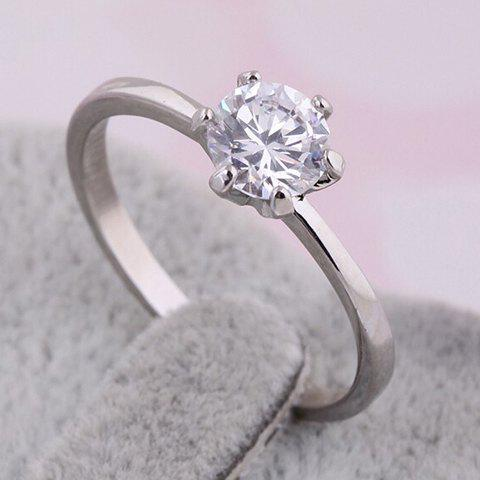 Fake Diamond Bridal Ring - SILVER ONE-SIZE