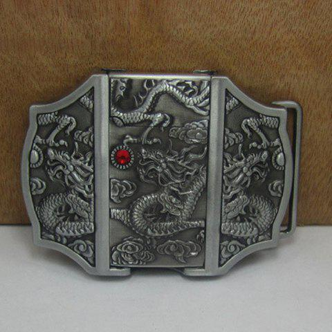 Stylish Cigar Lighter and Dragon Shape Embellished Metal Belt Buckle For Men