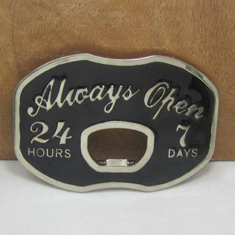 Stylish Letter and Number Shape Embellished Hollow Out Metal Belt Buckle For Men - AS THE PICTURE
