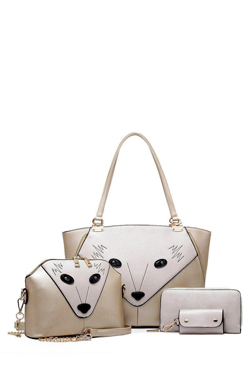 Trendy Animal Pattern and Metal Design Women's Tote Bag - GOLDEN