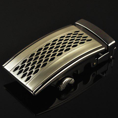Stylish Hollow Out Mesh Shape Embellished Men's Automatic Buckle - AS THE PICTURE