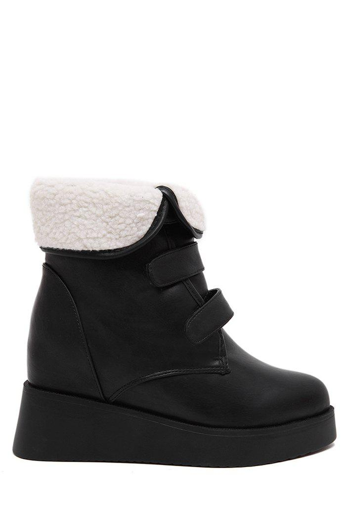 Stylish  and Fold Over Design Women's Short Boots - BLACK 38