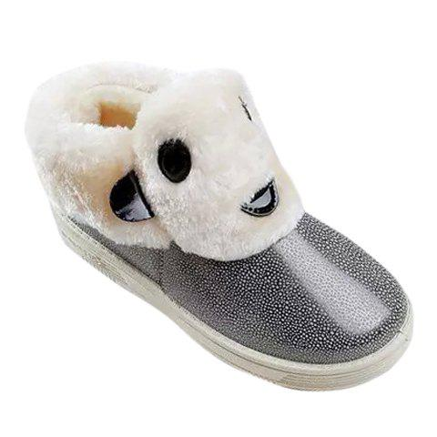 Cute Cartoon and Stingray Skin Design Snow Boots For Women - GRAY 39