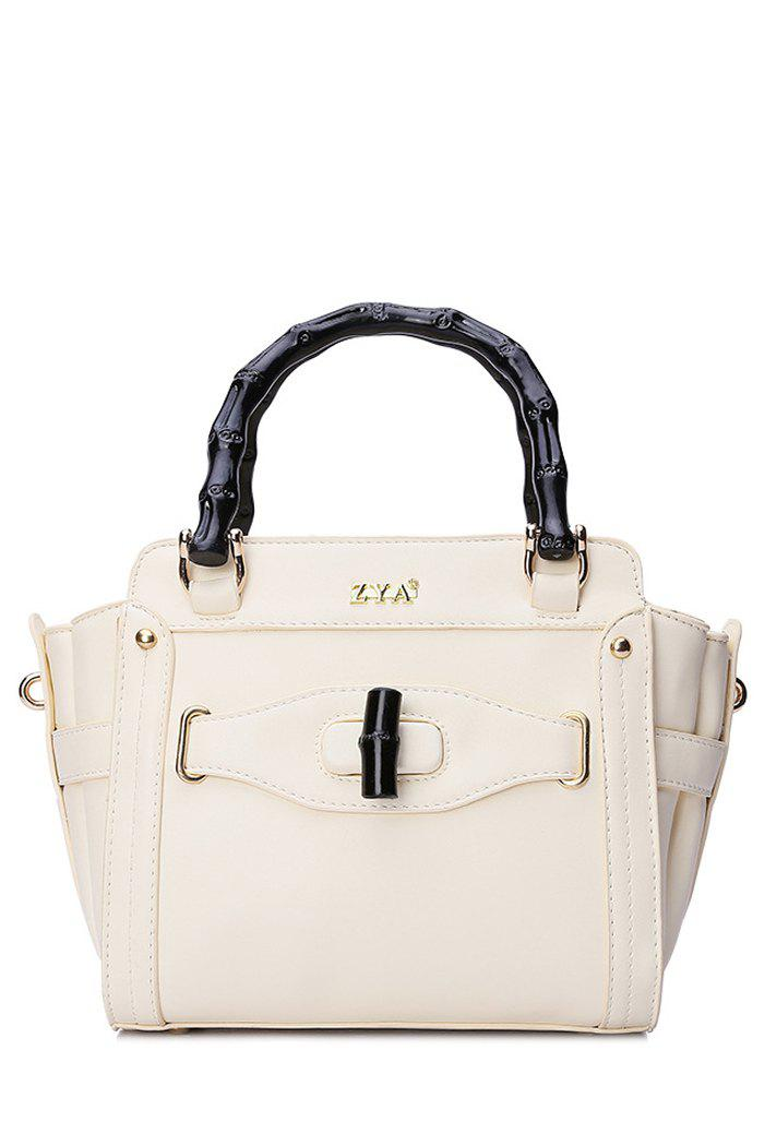 Elegant Letter and Hasp Design Women's Tote Bag - OFF WHITE