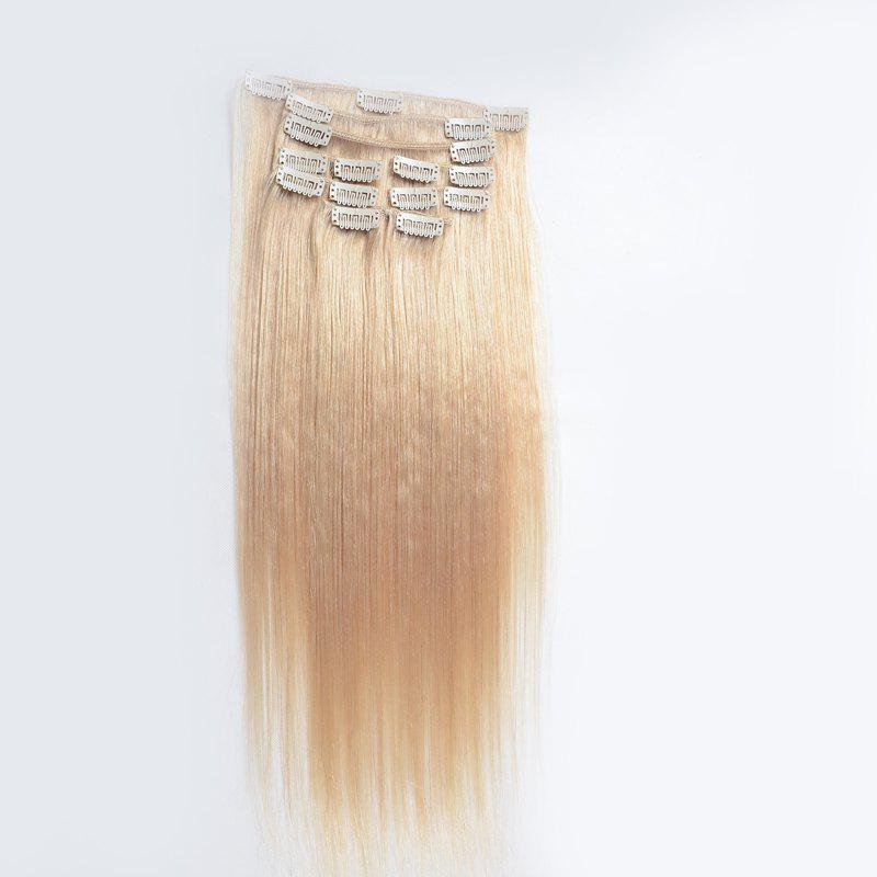 Assorted Color Silky Straight Vogue Human Hair Capless Long Clip In Hair Extension For Women -
