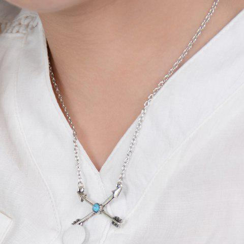 Cross Arrows Shape Pendant Necklace - SILVER