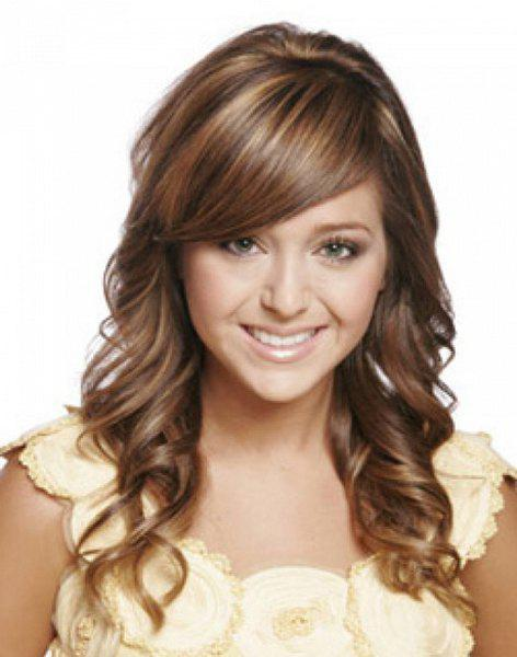 Shaggy Wavy Synthetic Fashion Side Bang Charming Long Brown Mixed Women's Capless Wig