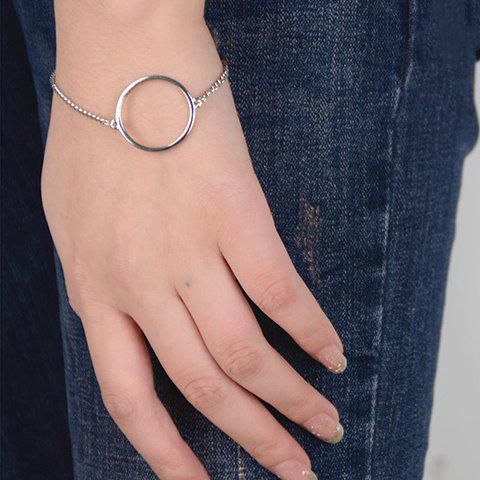 Chic Solid Color Geometric Bracelet For Women - SILVER