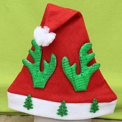 Hot Sale Sequins Tree Deer Horn Shape Embellished Men and Women's Christmas Beanie