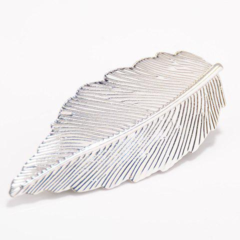 Stylish Pure Color Leaf Shape Hairgrip For Women - SILVER