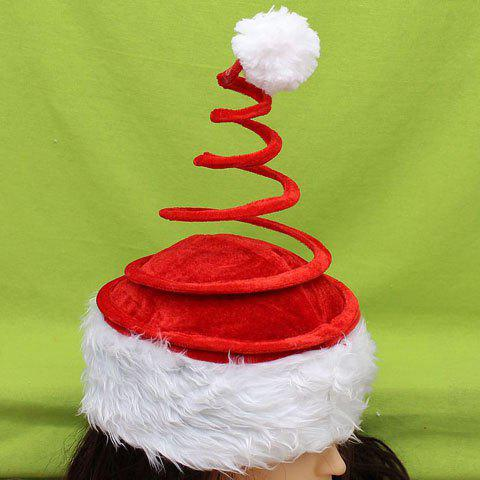 Hot Sale Coil-Spring Shape Embellished Men and Women's Christmas Beanie - RED
