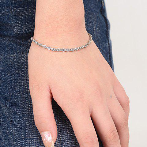 Characteristic Solid Color Twist-Link Chain Bracelet For Women
