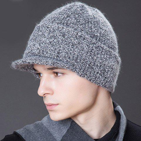 Stylish Mixed Color Face Mask Design Men's Knitted Baseball Cap - RANDOM COLOR